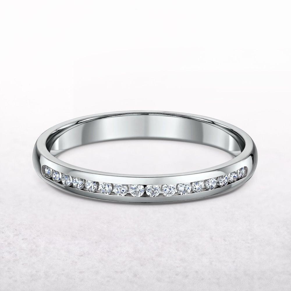 63ab858d0fd Ladies Platinum Channel Set Diamond Wedding Band