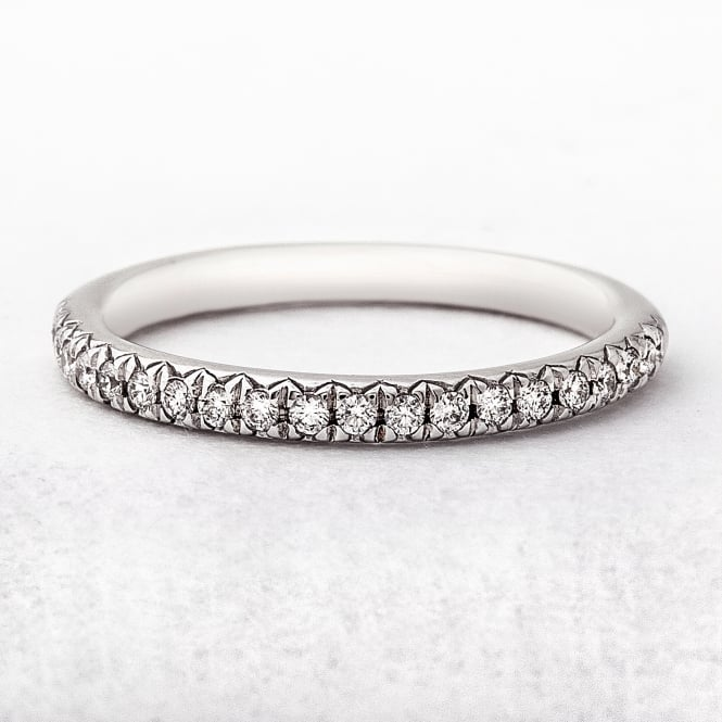 0.19ct White Gold Grain Set Diamond Ring