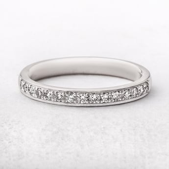 0.23ct Platinum Diamond Grain Set Wedding Ring