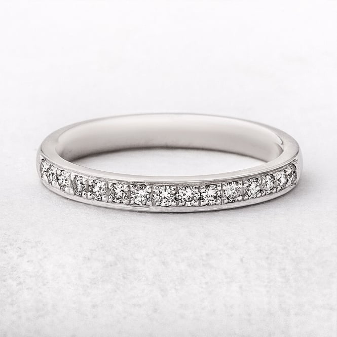 0.23ct White Gold Diamond Grain Set Wedding Ring