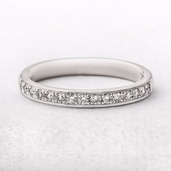 0.23ct White Gold Diamond Grain Set Wedding Ring