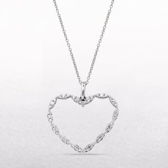 0.26ct Diamond Set Heart Shape Gold Pendant