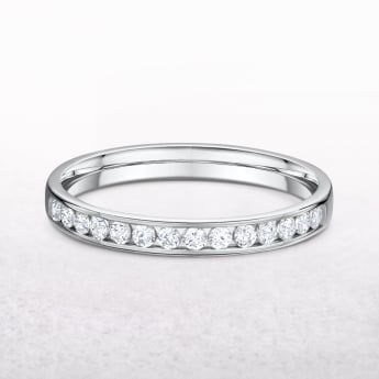 0.26ct White Gold Channel Set Diamond Band