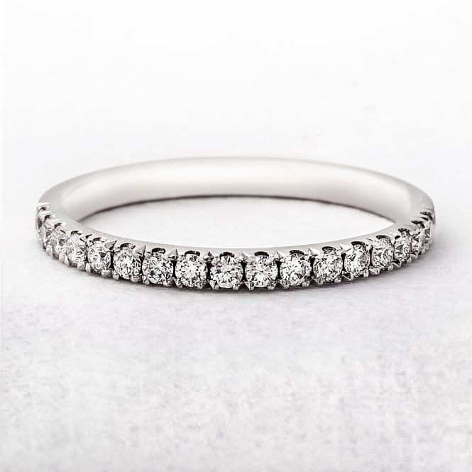 0.26ct White Gold Diamond Castel Set Wedding Ring