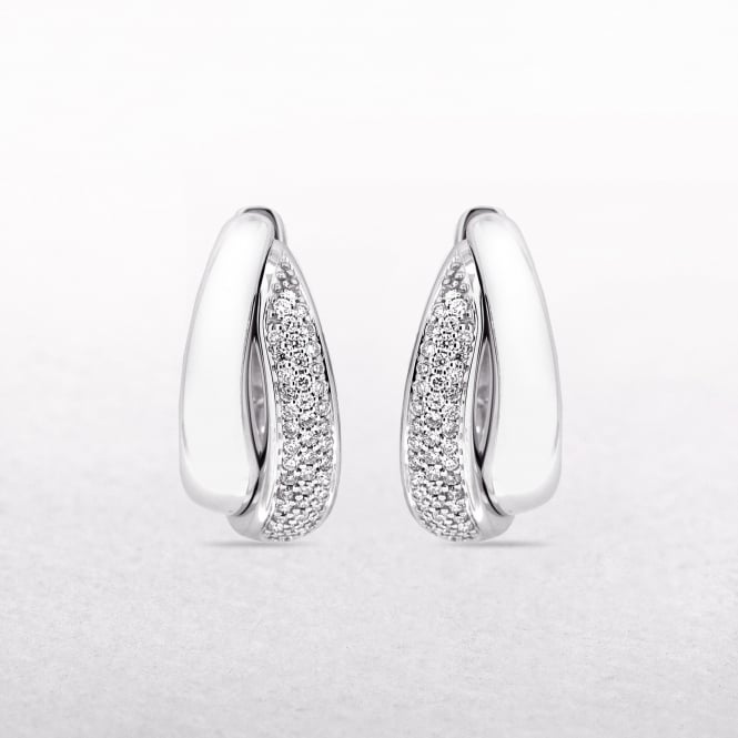 0.33ct Diamond Curved Cuff Earrings