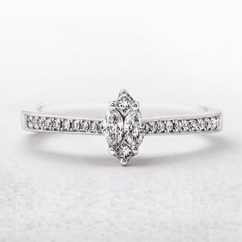 0.34ct White Gold Multi Stone Diamond Ring