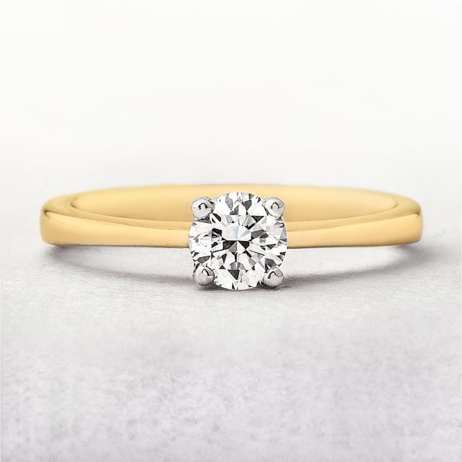 0.35ct Solitaire Diamond Engagement Ring