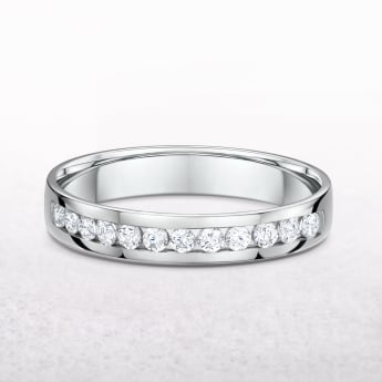 0.38ct White Gold Channel Set Diamond Wedding Band