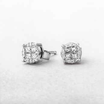 0.39ct Multi Stone Diamond Stud Earrings
