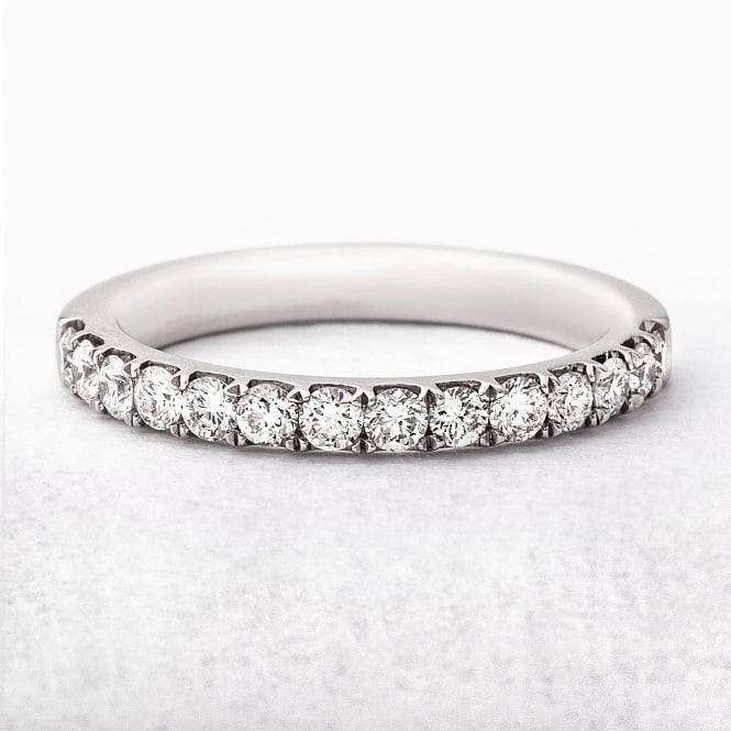 0.42ct Platinum Diamond Set Wedding Ring