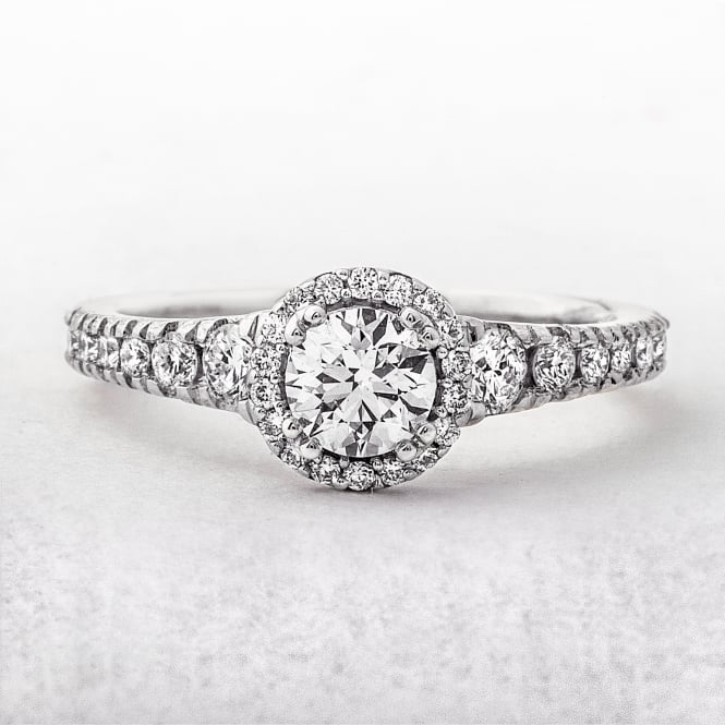 0.43ct White Gold Round Cut Double Claw Solitaire Ring