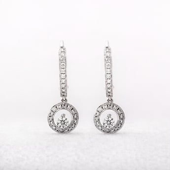 0.44ct White Gold Diamond Drop Earrings