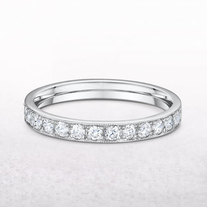 0.45ct White Gold Grain Set Diamond Ring