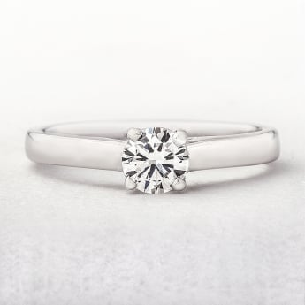 0.45ct White Gold Solitaire Diamond Ring