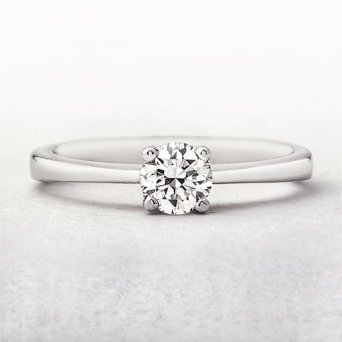 0.46ct White Gold Solitaire Diamond Ring