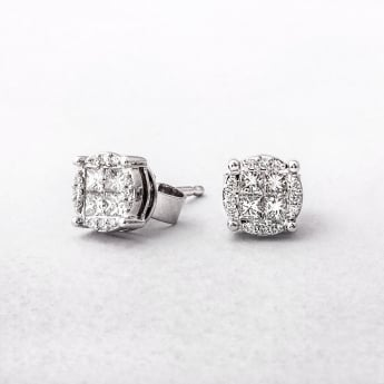 0.47ct Multi Stone Diamond Earrings