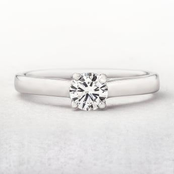 0.47ct White Gold Diamond Solitaire
