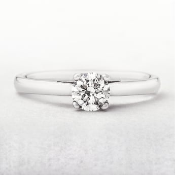 0.47ct White Gold Four Claw Diamond Solitaire Ring