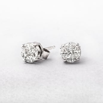 0.48ct Multi Stone Diamond Stud Earrings