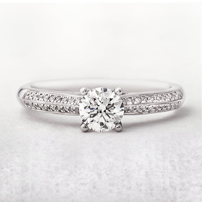 0.50ct White Gold Diamond Solitaire Engagement Ring