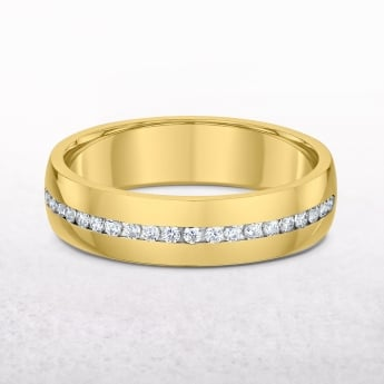 0.60ct Yellow Gold Diamond Channel Set Wedding Band