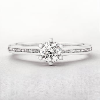0.61ct Diamond Solitaire Ring