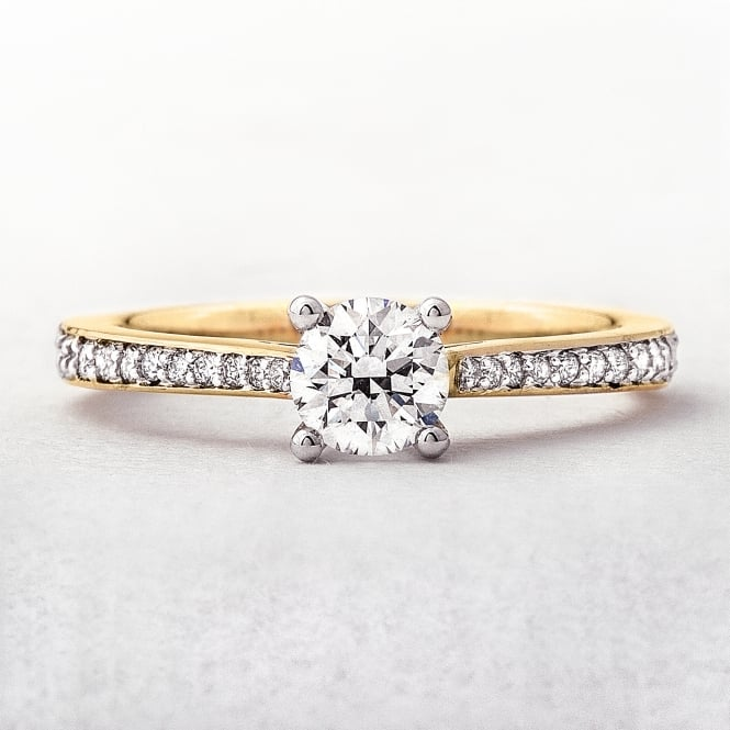 0.63ct Yellow Gold Solitaire Diamond Ring
