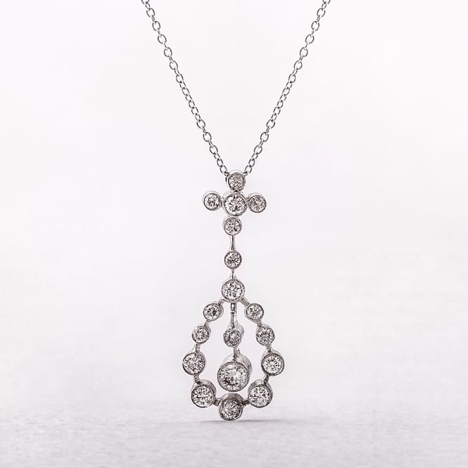 0.70ct White Gold Drop Diamond Pendant