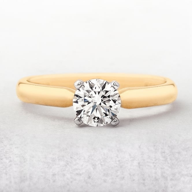 0.70ct Yellow Gold Diamond Soliatire Ring