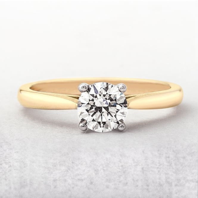 0.74ct Yellow Gold Diamond Solitaire Ring