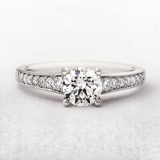 0.75ct White Gold Diamond Solitaire Ring