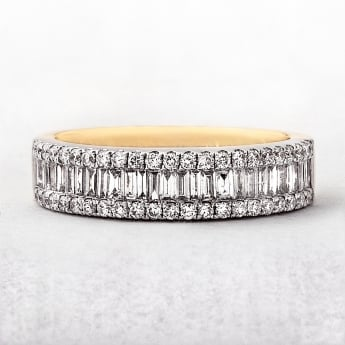 0.77ct Yellow & White Gold Diamond Eternity Ring