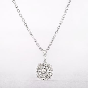 0.82ct Diamond Multi Stone Pendant
