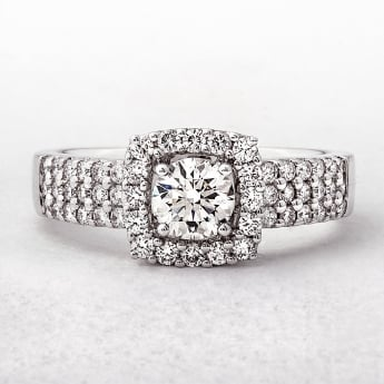 0.89ct White Gold Solitaire Diamond Ring