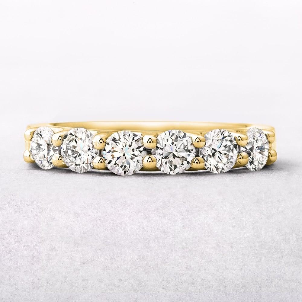 yellow gold six stone diamond eternity ring. Black Bedroom Furniture Sets. Home Design Ideas