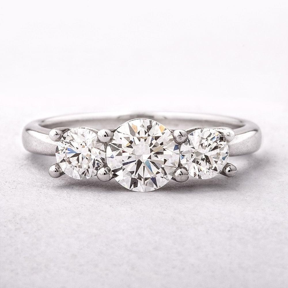 4f1b6f3ca9d3e 1.12ct Round Brilliant Cut Three Stone Diamond Ring