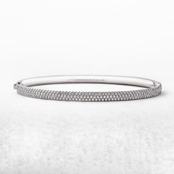 1.17ct White Gold Tiffany Co. Metro Diamond Bangle
