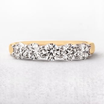 1.28ct Five Stone Set Diamond Eternity Ring