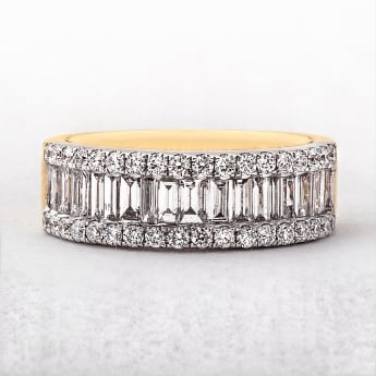1.42ct Yellow & White Gold Diamond Eternity Ring