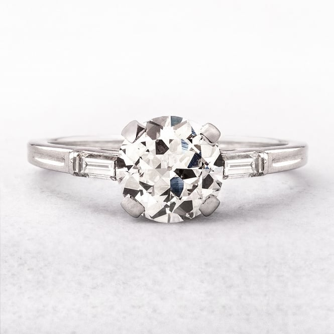 1.44ct Vintage Tiffany Solitaire Diamond Ring Set in Platinum