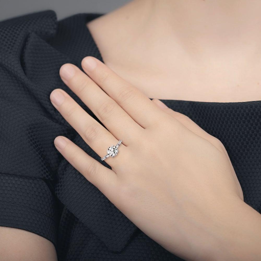 Diamond Solitaire Rings Platinum