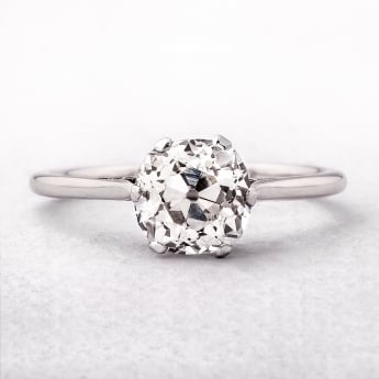 1.52ct Platinum Old Cut Diamond Ring