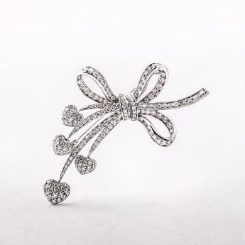 1.80ct White Gold Diamond Spray Brooch