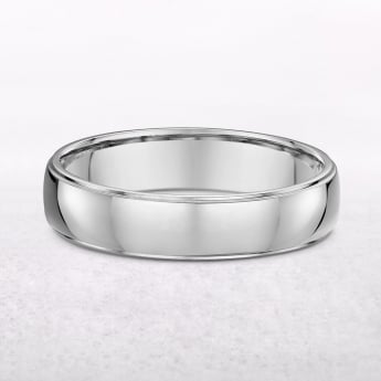 18ct White Gold Gents Wedding Ring
