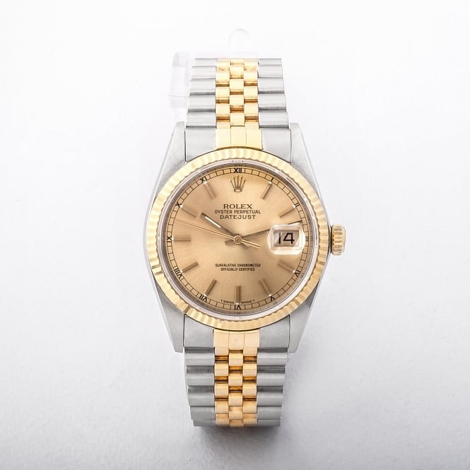 1995 Rolex Gents Perpetual Datejust On 18ct yellow gold and stainless steel judilee bracelet #16233