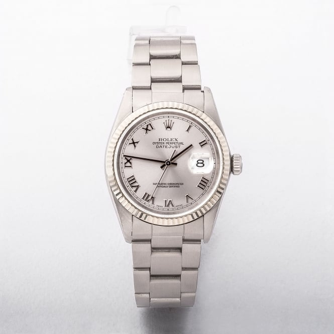 1997 Gents Rolex Rolesor Datejust Watch on Stainless Steel Oyster Bracelet
