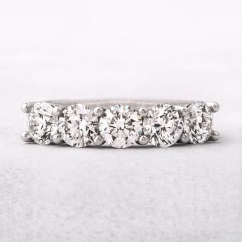 2.01ct Platinum Five Stone Diamond Eternity Ring