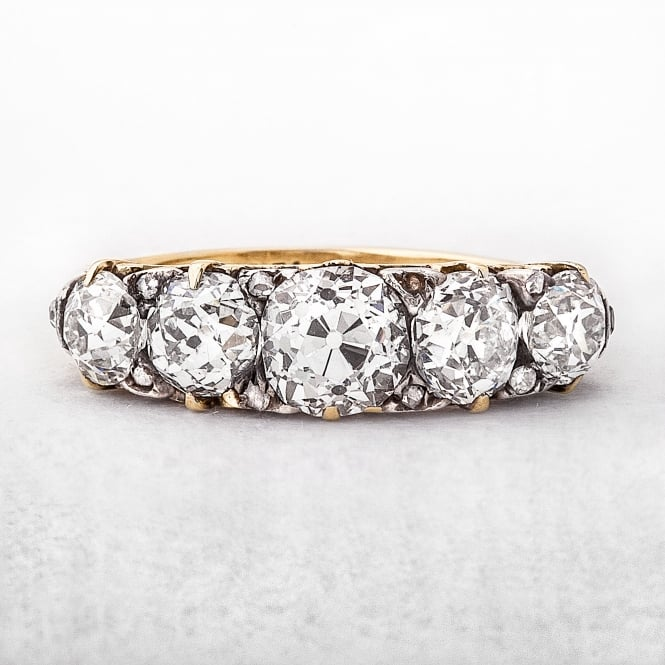 2.50ct Victorian Five Stone Diamond Ring