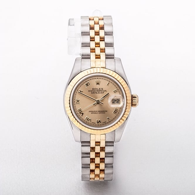 2004 Rolex ladies 18ct yellow gold and stainless steel datejust 179173