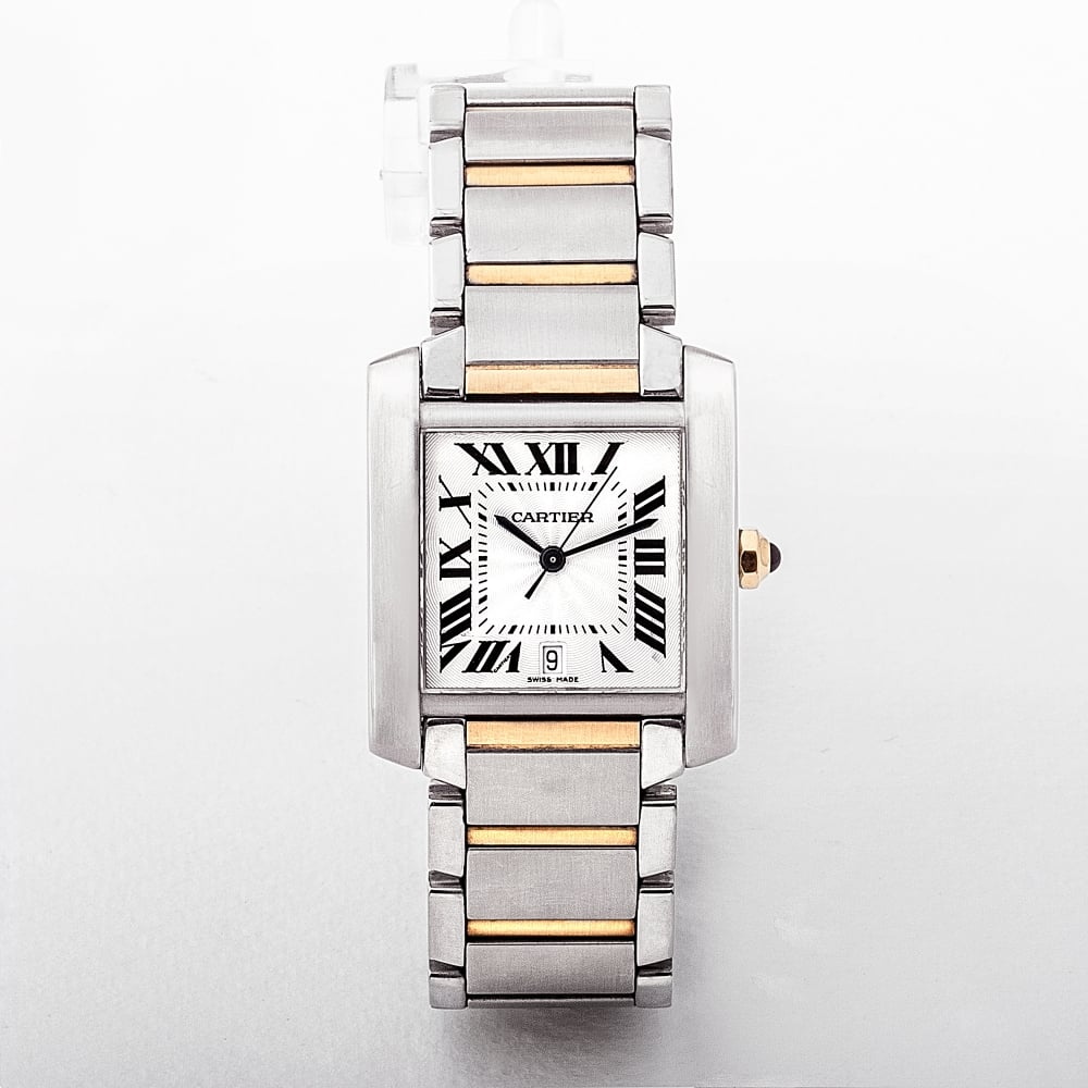 c529f333a22c Gents 2302 Model Cartier Two Tone Tank Francaise Automatic